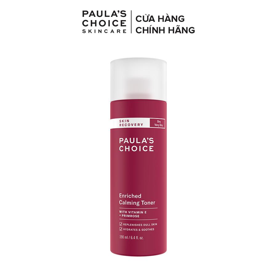 Nước hoa hồng Cân Bằng Phục Hồi Độ Ẩm Cho Da khô Paula's Choice Skin Recovery Enriched Calming Toner 190ml