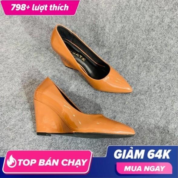 Giày cao gót nữ mũi nhọn đế xuồng 7cm da bóng thời trang Ro262 - Bảo hành 12 tháng - Đổi hàng nếu không ưng ý giá rẻ