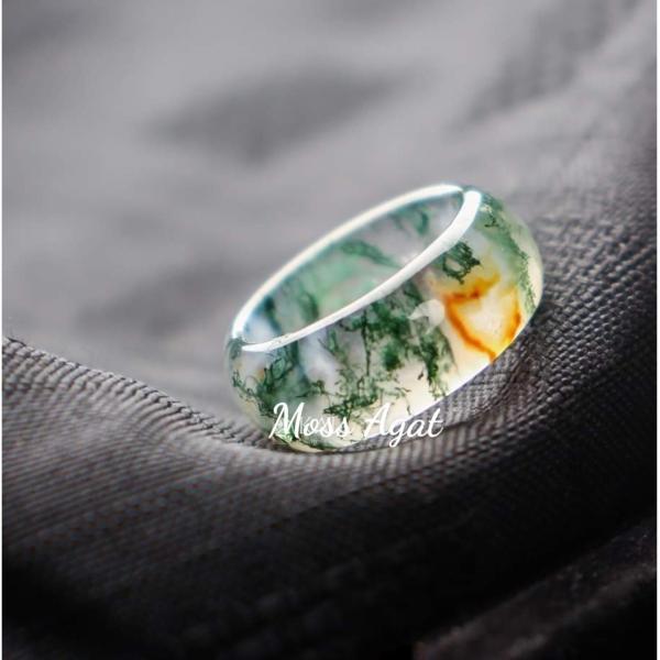 Nhẫn huyết ngọc thủy tảo - xưởng buôn đá phong thủy Huỳnh Đào