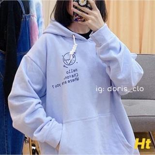 Áo Khoác Hoodie Nam Nữ Chất Nỉ Unisex Bo Tay Giá Xưởng, Hàng Đẹp, Áo Khoác Hoodie Freesize Form Rộng Chất Lượng - KEN SHOP thumbnail