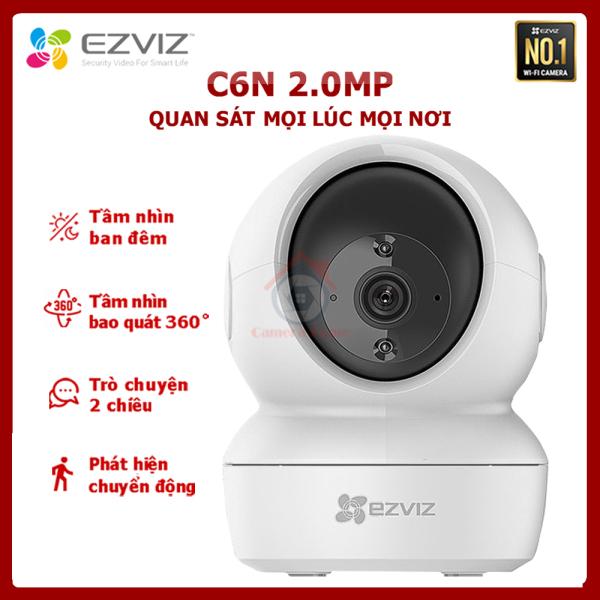 [BÁN LẺ - GIÁ SỈ] Camera EZVIZ C6N 1080P - Tầm Nhìn Bao Quát 360° - Camera Giám Sát Wifi Không Dây - Đàm Thoại 2 Chiều - Camera Home