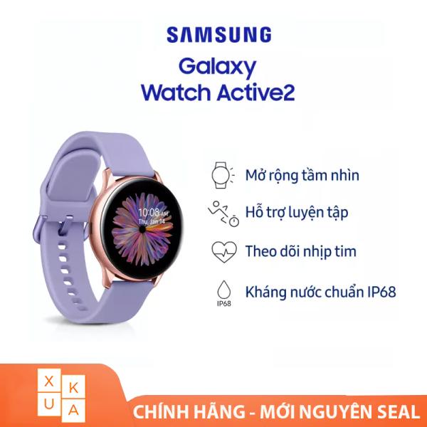 Đồng hồ thông minh Galaxy Watch Active2 Rose Gold Dây Tím - Hàng chính hãng