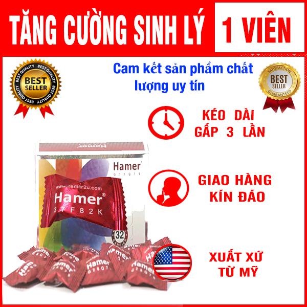 [GIÁ SOCK] Kẹo Sâm Hamer Kéo Dài Thời Gian Tăng Cường Siinh Lý Nam Giới - 1 Viên nhập khẩu