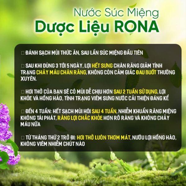 Nước súc miệng dược liệu Rona - cỏ cây hoa lá giá rẻ