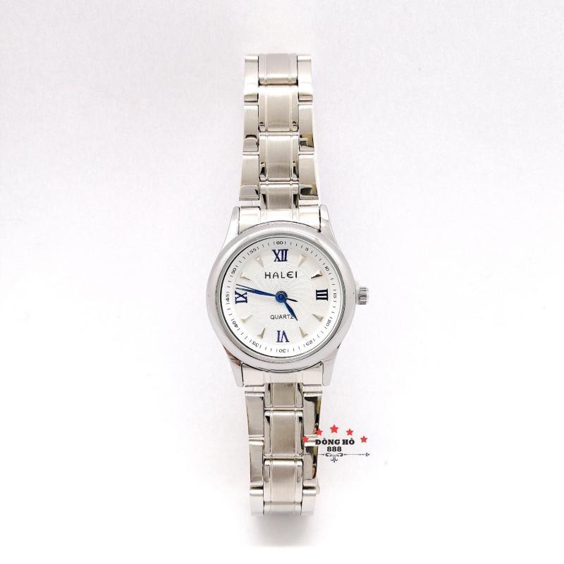 Đồng hồ nữ HALEI dây kim loại thời thượng ( HL489 dây trắng mặt trắng ) - Kính Chống Xước, Chống Nước Tuyệt Đối, Mạ PVD Cao Cấp Chống Gỉ Chống Phai Màu Thời Trang Hottrend 2020