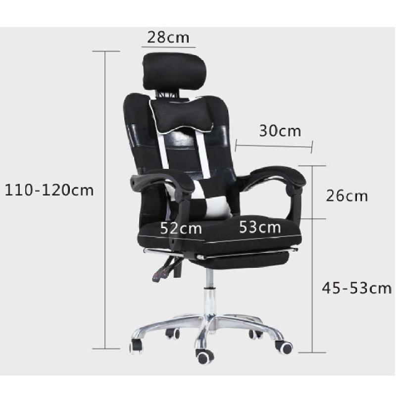 Ghế văn phòng, Ngả lưng + duỗi chân ngủ trưa, có bánh YW-809 giá rẻ