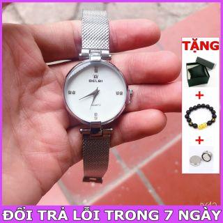 (FULLBOX) Đồng hồ Dây thép lụa siêu mỏng Nam Nữ [ Đồng hồ thể thao - Đồng hồ dây da dây thép - Đồng hồ cặp - Đồng hồ nữ chống nước - Đồng hồ nữ ] thumbnail