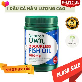 DẦU CÁ KHÔNG MÙI NATURES OWN ODOURLESS FISH OIL 2000MG 200 VIÊN thumbnail