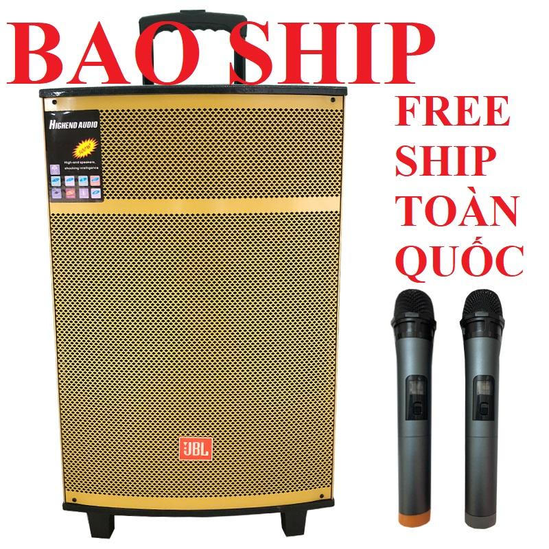 Deal Ưu Đãi Loa Kéo JBL Bass 40 Vàng Gold Công Suất Khủng, Loa Di động Cao Cấp Giá Rẻ, Tặng 2 Micro Không Dây
