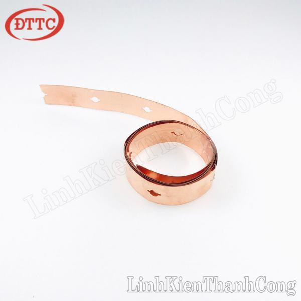 Bảng giá Kẽm Mạ Đồng Gắn Cell Pin 32650 LiFePO4 Loại Đơn Dày 0.2mm Rộng 10mm (Mét)