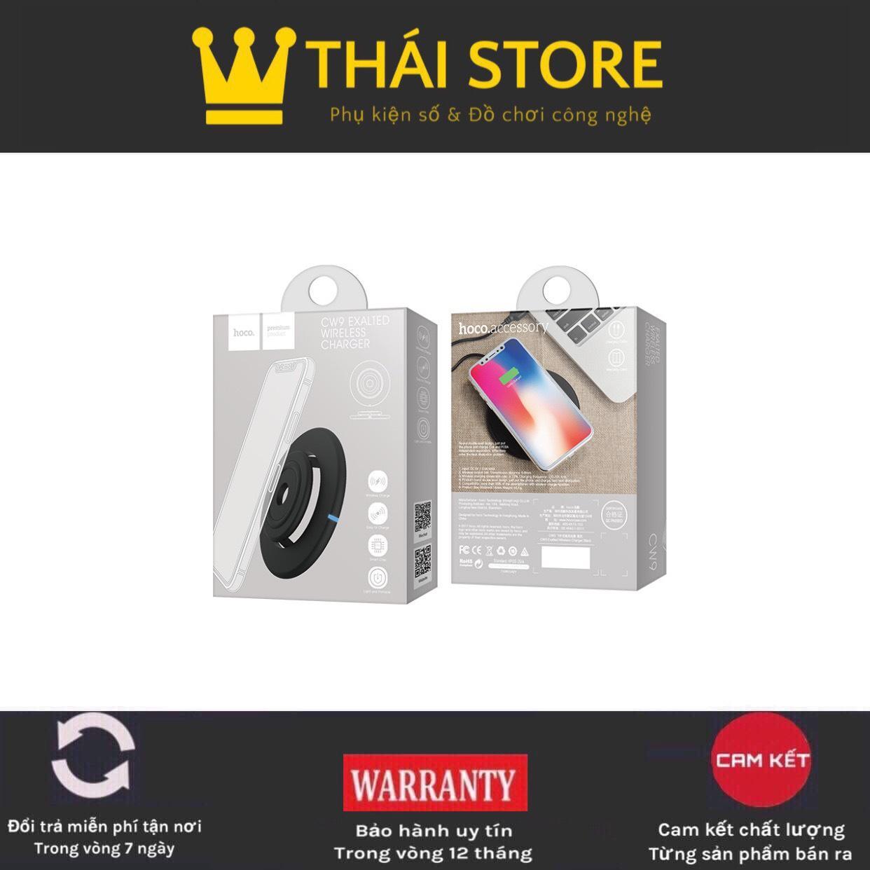 Đế sạc không HOCO CW9 thiết kế dễ thoát nhiệt Iphone/Samsung/Xiaomi... Chất lượng cao BH 12 tháng