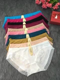 Combo 5 quần lót nữ su thông hơi viền ren mịn mát (40-55kg) - co giãn cực tốt - quần lót su nữ - N12 thumbnail