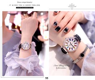 Đồng hồ nữ KING TIME Đính Đá Ruby Cầu Vòng, Mặt to nổi bật, Chống nước sinh hoạt 6