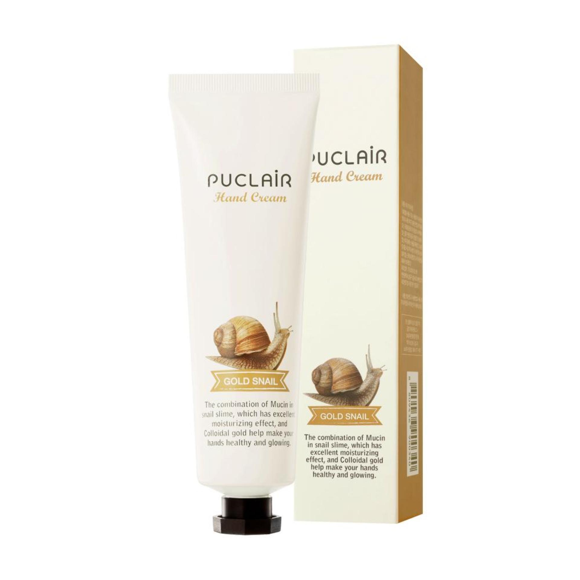 Kem dưỡng tay cấp ẩm dưỡng mềm da Hàn Quốc Puclair Hand Cream 50ml - Gold Snail chính hãng