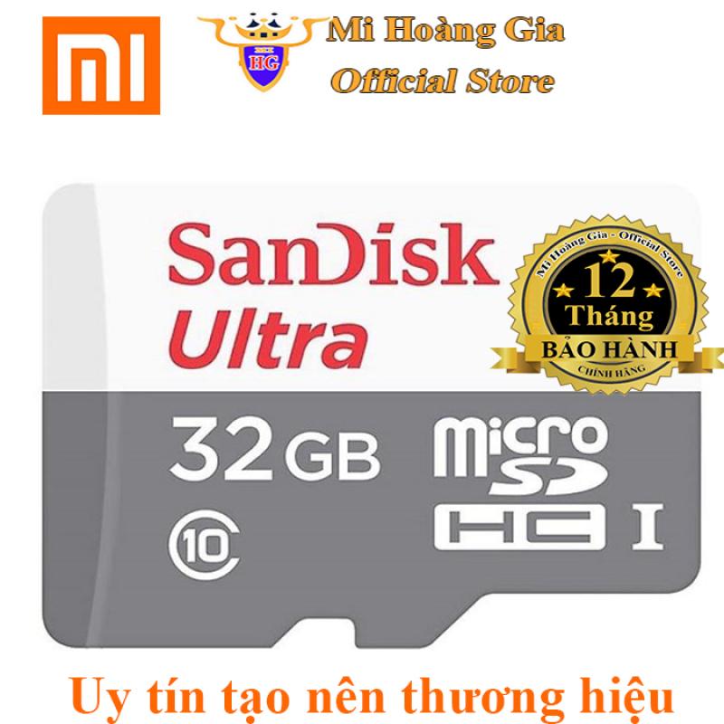 Thẻ Nhớ 32GB MicroSDHC SanDisk Ultra Class 10 Tốc Độ 100MB/s Tặng Kèm Đầu Đọc Thẻ Cho Máy Tính [Bảo Hành 12 Tháng]