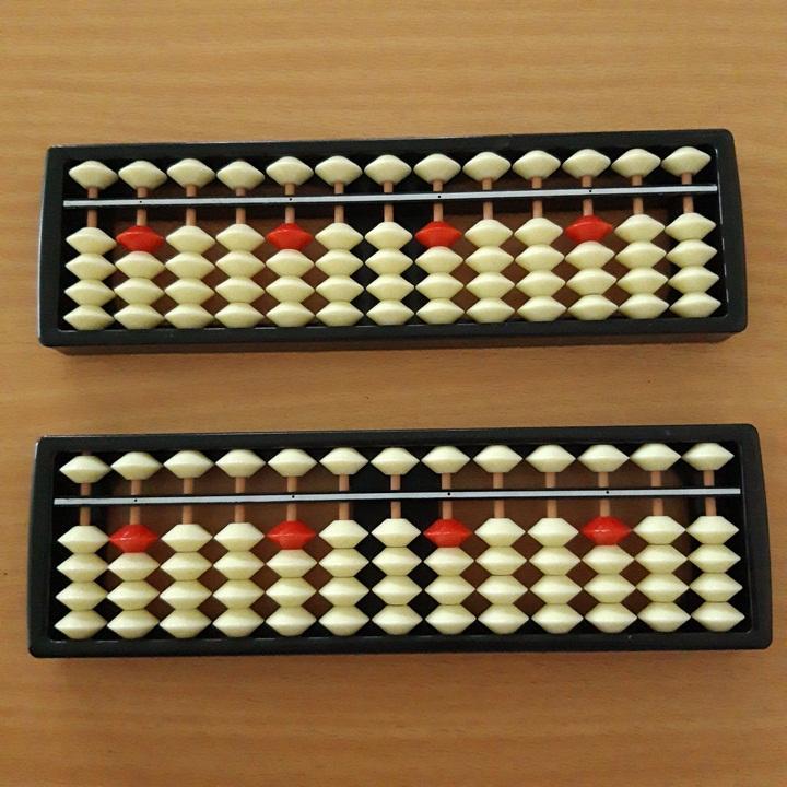Mã Khuyến Mãi Bàn Tính SOROBAN 13 Cột Màu Trắng đỏ