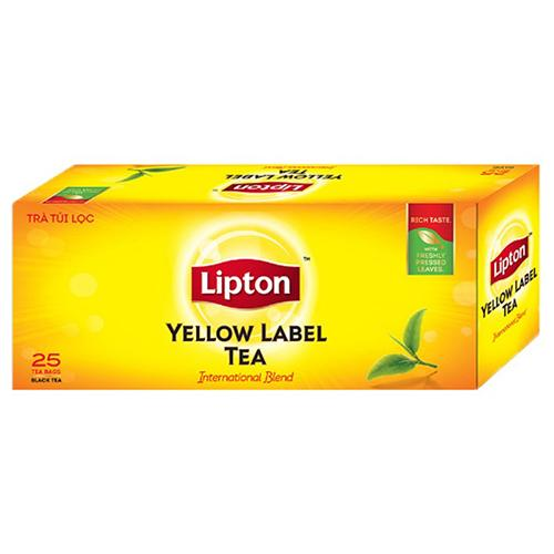 Trà Lipton nhãn vàng hộp 25 gói x 2g