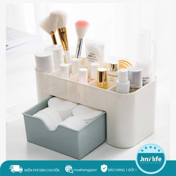 Hộp đựng mĩ phẩm, đồ trang điểm mini để bàn có ngăn kéo tiện lợi, Kệ mỹ phẩm nhựa đa năng, Kệ để bàn đựng đồ trang điểm nhựa cao cấp - RẺ VÔ ĐỐI nhập khẩu