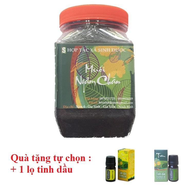 MUA 1 Muối ngâm chân sinh dược 450gr Độc Mộc TẶNG NGAY 1 lọ tinh dầu nguyên chất 5ml Anh Tấm Tâm An Shop cao cấp