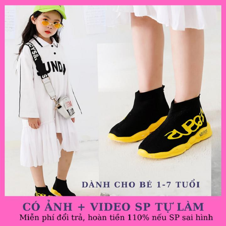 Giá bán Giày trẻ em đẹp thoáng khí, siêu nhẹ chống trơn trượt tốt phong cách HQ dành cho bé trai, bé gái từ 1-7 tuổi