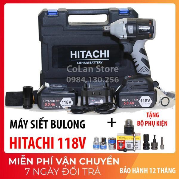 Máy Siết Bulong Hitachi 118V, động cơ không chổi than- tặng Phụ Kiện[ BH 12 tháng]