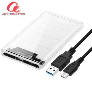 Hộp Đựng Ổ Cứng Trong Suốt 2.5 Inch Di Động USB 3.1 Gen 2 Type-C Sang SATA HDD SSD Hộp Đựng Di Động thumbnail