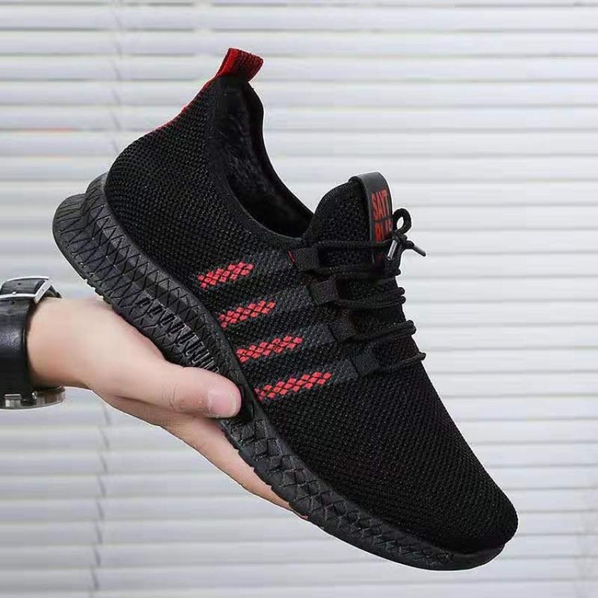 (Có 2 Màu) Giày thể thao nam Vải Lưới Siêu Thoáng Khí Sọc Đỏ - Sudoo giá rẻ