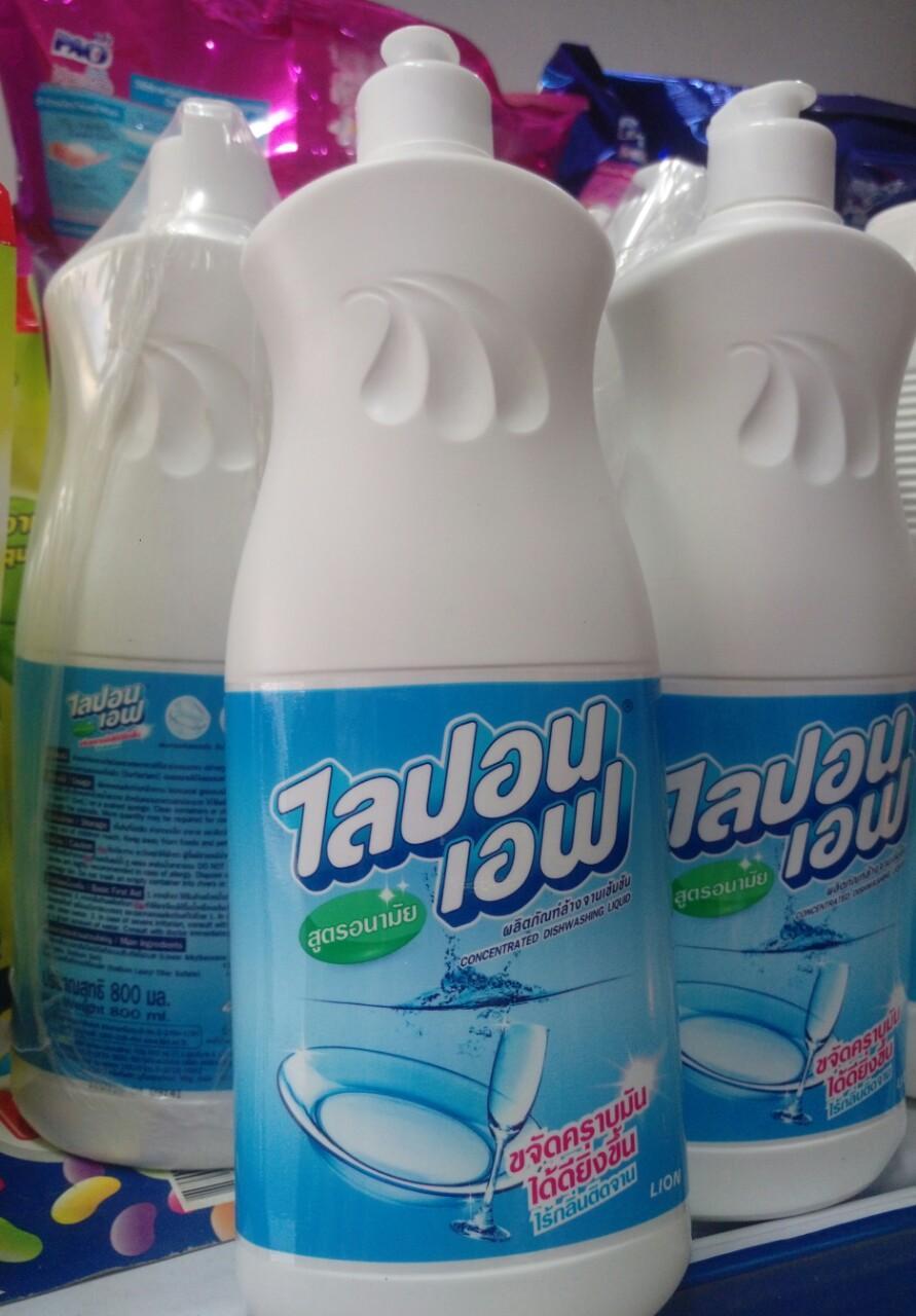 Nước rửa chén Lipon Thái Lan 800ml- Không mùi