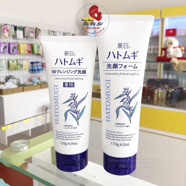 Sữa Rửa Mặt Hatomugi, Sữa Rửa Mặt Cho Da Dầu Hạt Ý Dĩ Trắng Da Nhật Bản