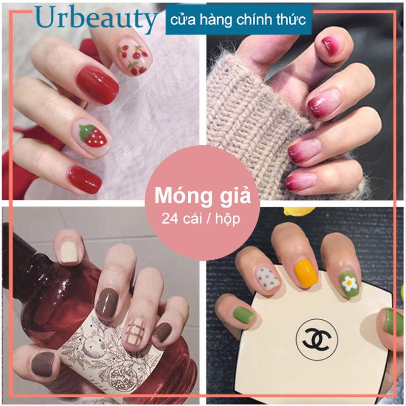 【Urbeauty】Hộp 24 Móng tay giả (Chứa keo),Năm phong cách chọn móng tay giả, nail giả , móng giả A8 ( Sản phẩm đã có sẳn keo ) giá rẻ