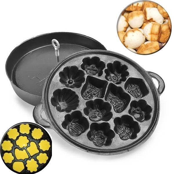 Khuôn Làm Bánh Bông Lan Nướng Chống Dính 12 Bánh Loại Nặng Hàng VNCLC