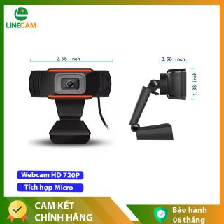 Camera Webcam HD 720P chất lượng HD tích hợp micro cho máy tính, Học online, Chát trực tuyến, Gọi video - Bảo hành 6 Tháng thumbnail