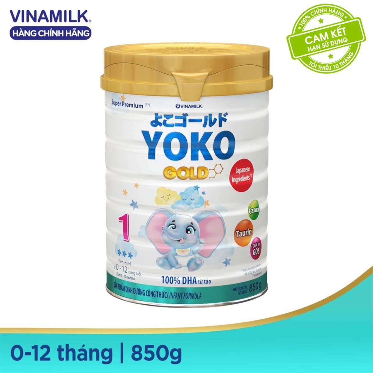Mã Giảm Giá [Freeship HCM & HN] Sữa Bột Vinamilk Yoko Gold 1 - Hộp Thiếc 850g - Dành Cho Bé 0-12 Tháng Tuổi