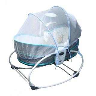 Màn lưới chụp ghế rung, nôi rung,xe đẩy cho em bé chống côn trùng hiệu quả. Màn lưới chụp nôi rung, ghế, cũi cho bé thumbnail