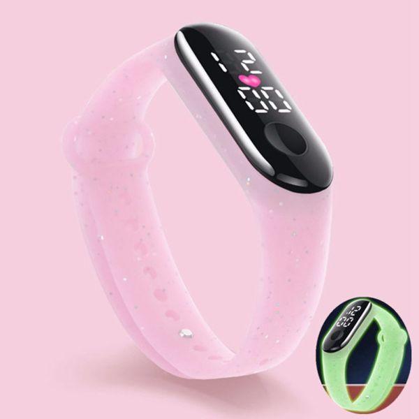 Nơi bán XUYANGDIAN Có thể điều chỉnh Tính cách Màn hình kỹ thuật số LED Các cô gái Phụ nữ Những cậu bé Đồng hồ điện tử phát sáng Vòng đeo tay chạy bộ Đồng hồ kỹ thuật số dành cho trẻ em Đồng hồ đeo tay phong cách Hàn Quốc