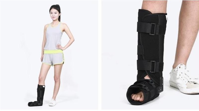Đai nẹp cố định khớp gót chân cao cấp. cố định từ cẳng chân. gót chân