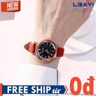 Đồng hồ nữ Candycat C51, đồng hồ mặt tròn, chạy 3 kim, dây đeo da cao cấp, kháng nước chống trầy nhẹ (nhiều màu) thumbnail