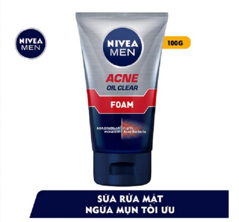 Sữa rửa mặt Nivea Men giúp ngăn ngừa mụn ACNES OIL CLEAR 100g giá rẻ