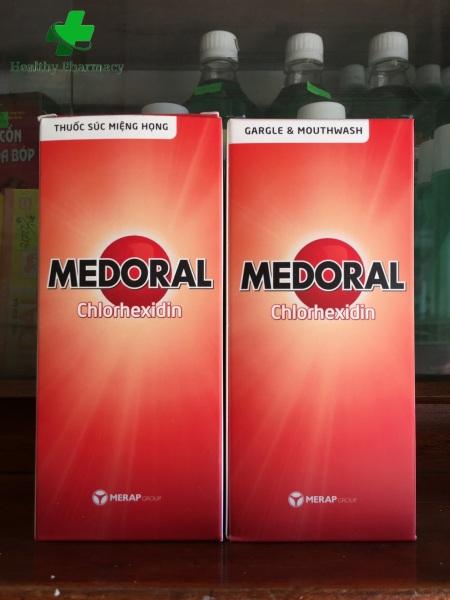 2 chai nước súc miệng họng Medoral (loại 250ml) cao cấp