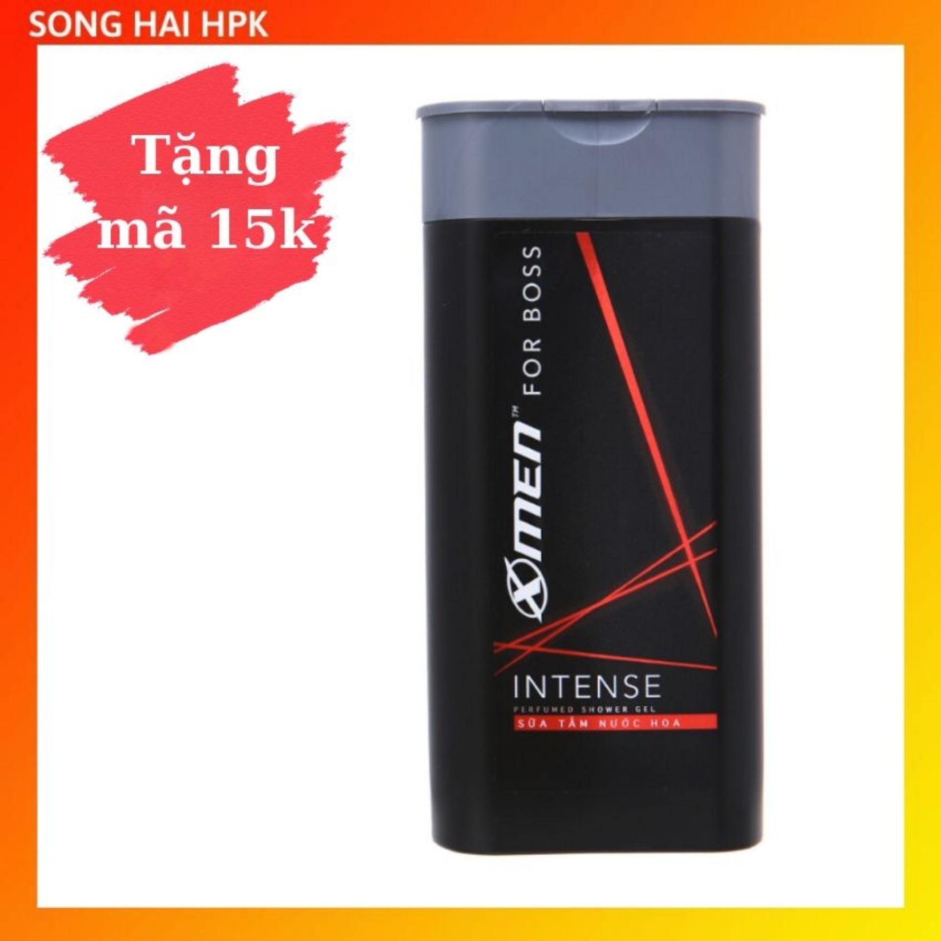 Sữa tắm nước hoa X-Men For Boss Intense - Mùi hương trầm đầy nội lực 380g Songhaihpk nhập khẩu