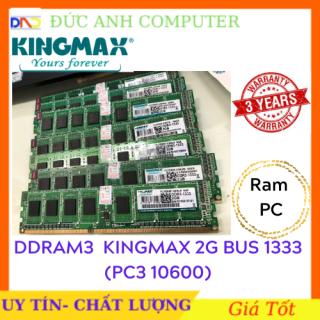 Ram DDR3, Ram DDR3 PC KINGMAX 2G Bus 1333 - Bảo Hành 3 năm- 1 Đổi 1 - Chân Vàng - 2Gb Ram 3, 2Gb Bus 1333 Kingmax thumbnail
