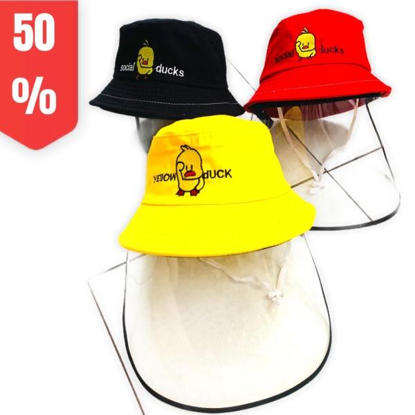 Giá bán Nón Tai Bèo Chống Dịch Cho Bé, Mũ Có Kính Che Bụi, Chắn Gió, Côn Trùng Bay Vào Mặt Bé (Bé từ 2-8 Tuổi)