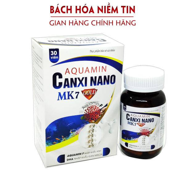 Viên uống bổ sung canxi từ tảo biển đỏ Aquamin Canxi nano Mk7 Gold - dùng cho trẻ từ 1 tuổi và người lớn - Hộp 30 Viên