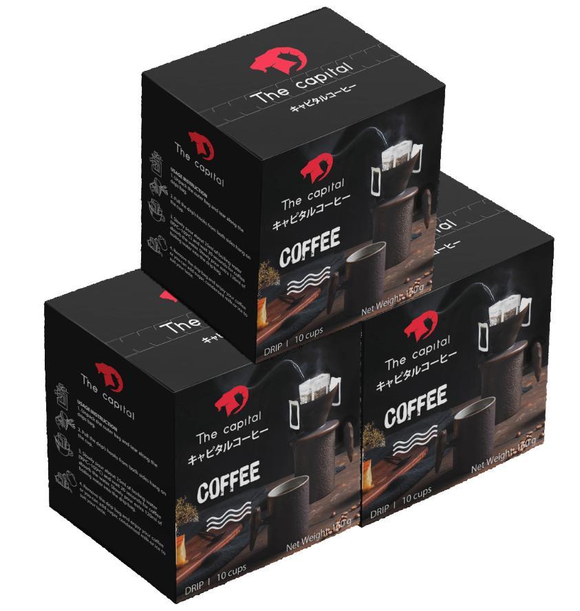 COMBO 3 HỘP Cà Phê Phin Giấy  THE CAPITAL  Hộp 10 Gói (16g X 10 Gói)  Drip Coffee  Cafe Nhật Bản