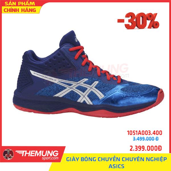 Giày Bóng Chuyền Chuyên Nghiệp Asics nam cao cổ 1051A003.400 (Xanh)