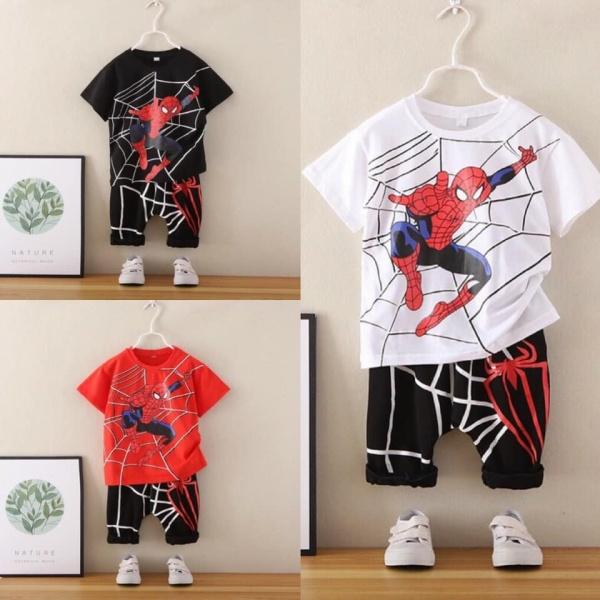 FREE SHIP áo bé trai hình siêu nhân nhện Spiderman từ 1-5 tuổi - Size từ 7-18 kg