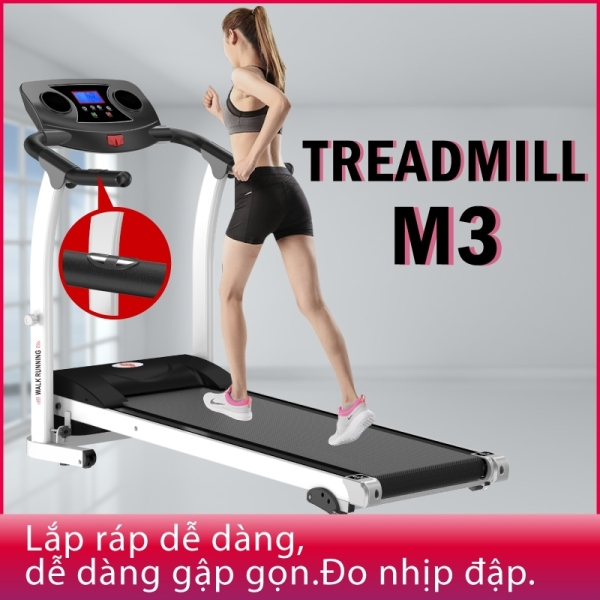 GỴM19 - Máy chạy bộ đơn năng mẫu mới Treadmill M3 Công xuất đạt 2.0HP