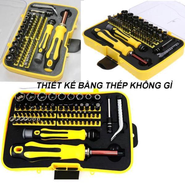 Bộ dụng cụ đa năng 70 chi tiết có tua vít + đầu khẩu 6092 . Mua Bộ dụng cụ vặn ốc vít