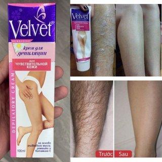 [da nhạy cảm] Kem tẩy lông Velvet từ Nga 100ml hàng nhập khẩu thumbnail