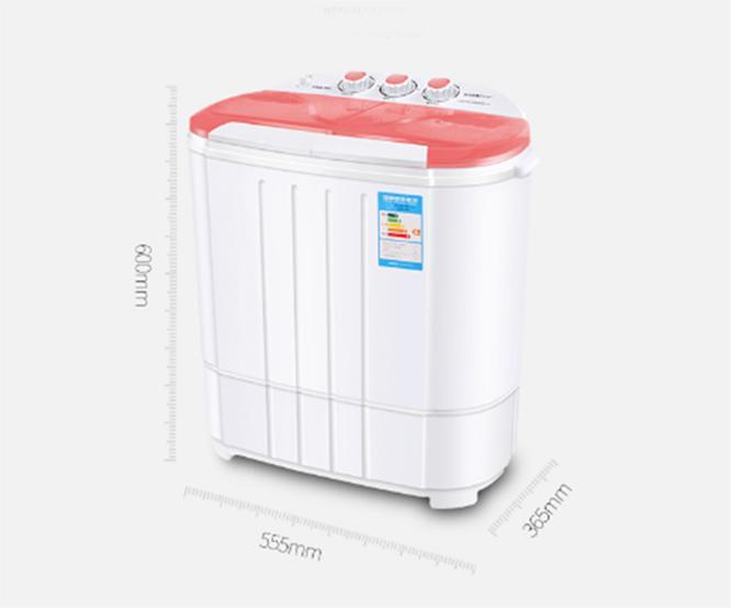 Máy giặt mini 2 lồng giặt kiêm chế độ vắt nhanh cho bé - 1